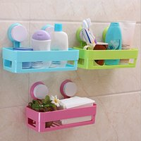 Wholesale Bathroom Shelves Kitchen Stand Rack Organizer Shelf Multifunctional Strong Suction Holders Mounted Waterproof Placement P233