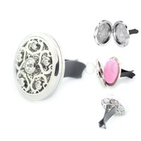 Wholesale New mm Silver Magnetic Stainless Steel Plum Blossom Car Diffuser Aroma Locket Essential Oil Car Accessories free felt pads