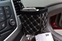 auto upholstery leather - Mobile phone holder black Auto Car leather upholstery car outlet sundries bag organizer cell phone pocket glove Car Accessories