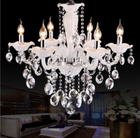Wholesale Candle crystal pendant living room bedroom dining room modern simple White Garden