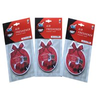 air freshener card - Paper Air Freshener Car Perfume Hanging Tags Aroma Cards Natural Essential Oils Soaked Remove Peculiar Smell Christmas Promotion Gifts
