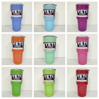 Wholesale YETI Bilayer Stainless Steel Insulation Cup OZ Cups Cars Beer Mug Large Capacity Mug vs Push Pop Confetti