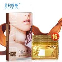 Wholesale 2016 PILATEN Crystal Collagen neck mask Women Anti aging Anti wrinkle Whitening moisturizing Hyaluronic mask neck care Box