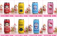 anime travel mugs - Cartoon Vacuum Thermos Mug Cola Stainless Steel Anime Figures Coffee Cup With Lids Straw VS Hydro Flask Water Bottle