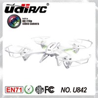 Wholesale UDI U842 G CH Axis RTF RC Quadcopter UFO Drone With MP HD Camera