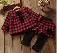 Cheap Autumn winter kids clothing sets kids girls clothing set children top+ pants 2 pieces 5 s l