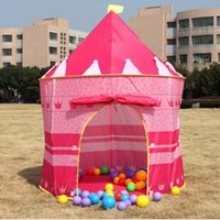 Wholesale Ultralarge Children cm Tent Baby Toy Game House Kids Prince Castle Indoor Outdoor Toys Tents Christmas Gifts