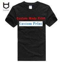 t-shirt heat transfer - Mens Womens Customised Logo Print Heat Transfer Printing plus size XXXL Cotton Custom T shirts g printing logo clothes