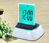 american tech - Fashion high tech LED dispaly digital table desk clock multi color wall alarm clock wall alarm clock desk alarm clock