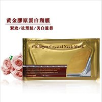 Wholesale Hot Selling Deep Water Gold Collagen Crystal Neck Mask Patch Moisture Neck Mask Anti Wrinkle Free DHL Shipping