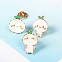 baby brooch gold - X107 Cute Grass Smile Baby Figure Metal Brooch Pins Button Pins Jeans Bag Decoration Gift