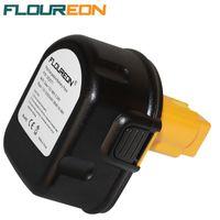 dewalt - FLOUREON V mAh Battery Replacement Power Tools Batteries Cordless Drill for Dewalt DE9071 K DE9074 DE9075 DC740K Ni MH