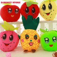 apple stuffed animal - Several styles cm Fruit animal cartoon Plush Toys for Girl Dolls Stuffed strawberry lemon apple soft toys