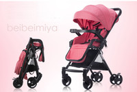 Wholesale 2016 new baby stroller car high landscape can sit and lie baby two way portable folding carts Peach Coconut ash Chocolate