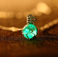 essential oil necklace - Diy Jewelry Diffuser Necklaces Jade Silver Small Essential Oil Diffuser Sweater Turquoise Stone Pendant Necklaces Women Chain Charm Heart