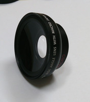 Wholesale Fisheye lens Wide mm x Wide Angle lens with Macro use mm filters Front Rear Cap WITH macro FOR nex