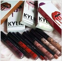 Wholesale Kylie lip kit Lipstick Female Kylie Long Lasting Lipstick Lip Gloss Liquid Matte Lip Liner Makeup Cosmetic