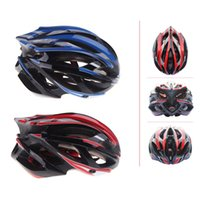 Wholesale Ultralight Vents Sports Mountain Road MTB Bike Bicycle Helmet Cycling Helmets with LED Tail Light Visor Adult Blue Red