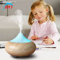 airs light sources - Mini Aromatherapy ultrasonic essential oil diffuser aroma humidifier fogger Cool Mist Fresh Air Spa humidistat home Light Wooden
