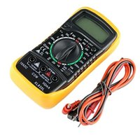 Wholesale Hot Digital Multimeter XL830L Volt Meter Ammeter Ohmmeter Yellow Tester