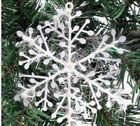 Wholesale Snowflake Christmas supplies Size x11 cm Christmas decoration white Christmas hanging decoration
