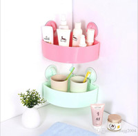 bathroom plastic shower caddy - hot sale bathroom accessories colored Hot Selling Kitchen Bathroom Suction Storage Rack Holder Shower Caddy Corner Wall Shelf Organizer Whit