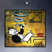 art for life - SMOKING High Quality genuine Hand Painted For Wall Decor Alec monopoly Graffiti Pop Art Oil Painting On Thick Canvas Multi Size Free Shippin