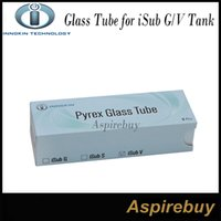 Wholesale 100 Authentic Innokin Glass Tube for iSub G Tank iSub VTank Replacement Pyrex Glass Tube for Innokin ML iSub G Tank or ML iSub V Tank