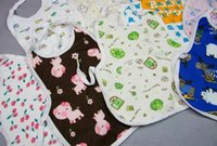 baby bibs waterproof backing - High quality lowest price cotton anti water coating on the back big size baby bibs x30CM baby bibs waterproof