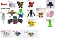 bat toy - 50pcs Minecraft Serise dolls Overworld Core Stuffed Plush toys for the children top Deluxe Doll kids Cartoon bat Zombie Ghast