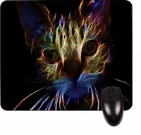 Wholesale Neon Cat Art Square Mousepad Great Office Accessory and Gift