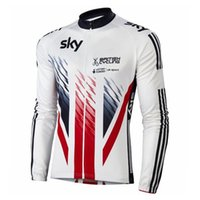 Wholesale autumn cycling clothes SKy White team Long Sleeve Cycling Jersey Roupa Ciclismo Bike Wear Breathable Bicycle Clothing