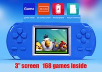 Wholesale 168 built in classic game inch color screen handheld game console game console video game player children gifts