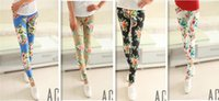 Wholesale Spring Women Leggings New Casual Slim Fashion Sexy Pants Leggings printing Patterned Tights Girl Graffiti Leggings A Variety mix order