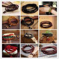 bead jewelery - Hot Sale Fashion Natural Ebony mm Black Wood Beads Buddha Bracelets Men Women Long Bangle Religion Gift Tibet Jewelery