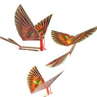 air plane models - Creative Rubber Band Power Baby Kids Adults Handmade DIY Bionic Air Plane Ornithopter Birds Models Science Kite Toys Gifts