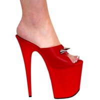 b magazine - 20cm high heeled shoes slippers magazine shoes sexy clubbing high heels inch red pole dancing feather heels