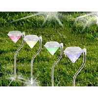 Wholesale 2016 Fashion Hot Solar LED Path Light Diamond Outdoor Garden Lawn Landscape Plastic Lamp Light Drangonfly Butterfly Bird for Choose