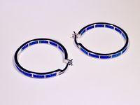 Wholesale Retail Fashion Blue White Multicolour Fine Fire Opal Earrings Sterling Sliver Jewelry EJL1631001