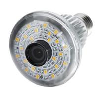 Eazzy BC-785WM Mirror HD720P Lampe à LED Ampoule Wifi avec 5W White Light + Capteurs d'alarme sans fil Caméra de surveillance