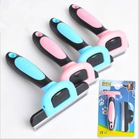 hair clipper accessories - High Quanlity newest pet hair removal comb dog cat croming cleaning comb pets hairbrush remover tools sizes