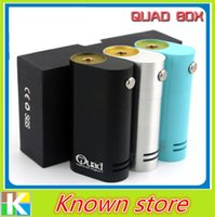 best top doors - New aporizer Quad Box Mod fit Dual Battery Top Slide Battery Door Best Quad Mechanical mod with thread DHL Free