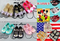 alice pvc - 2016 Melissa baby sandals Alice Mickey minnie Mouse Bow kids shoes princess shoes PVC Soft sole girls summer shoes DHL C515
