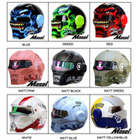 Wholesale DOT Ironman helmet Skull motorcycle motorbike Iron man Masei open face factory