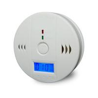 CO monóxido de carbono probador de alarma de advertencia del <b>sensor</b> del detector de gas de incendios Detectores de Envenenamiento Pantalla LCD de vigilancia de seguridad Seguridad en el Hogar Alarmas