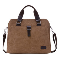 big briefcases - New Male Briefcases Big Business Men Messenger Bags Canvas Women s Handbags Travel Cross Body Bags Men Shoulder Bags Black dark khaki and br