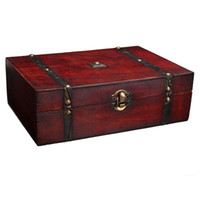 antique metal jewelry boxes - Vintage Jewelry Storage Box Metal Lock Wooden Organizer Case Wood Boxes Chinese Antique Retro Jewellery Candy Container Cases