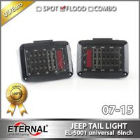Wholesale pair Jeep Wrangler LED tail light day time run light signal amber red light break turn light in one for JK vehicles