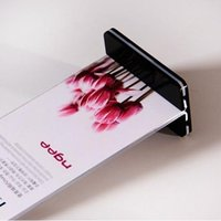acrylic side table - 10 cm Double Side Acrylic Table Display Stand Sign Billboard Holder Menu Price Tag Display Holder