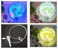 Wholesale flexible Strip Aquarium Fish Tank LED Light Bar Submersible Waterproof Clip Lamp Decor Dimmable USB Plug Aquariums lighting